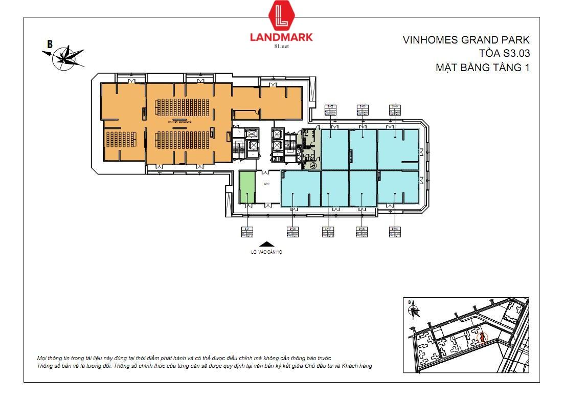 mat bang shop shophouse S3.03 vinhomes quan9