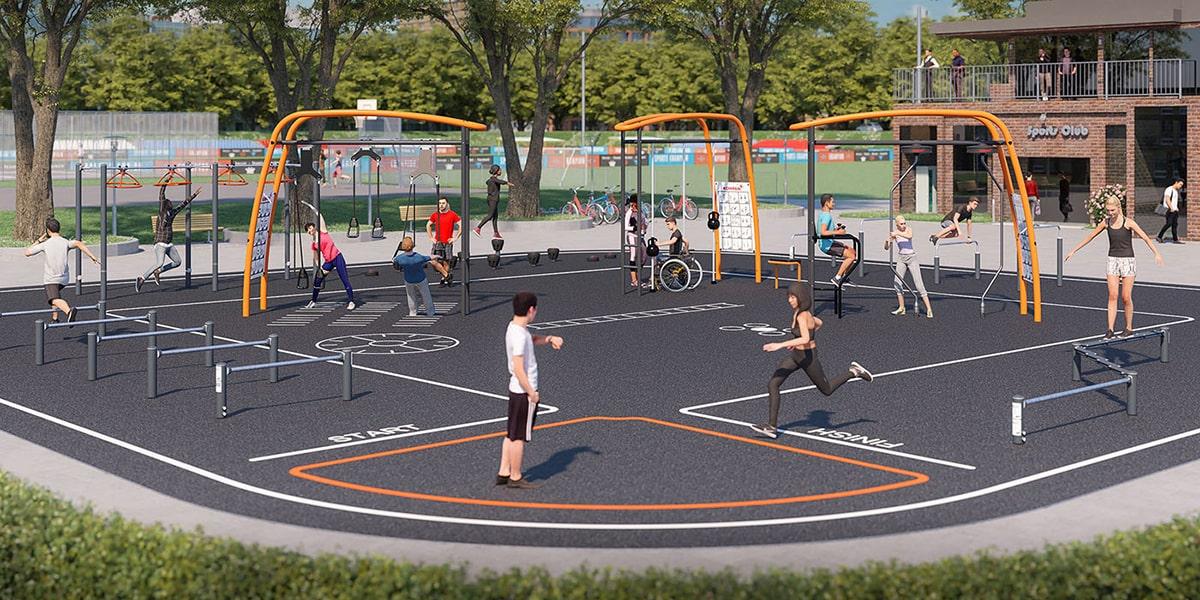 Cong vien the thao Vinhomes Grand Park