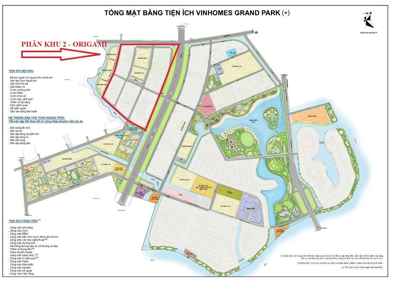 Tổng mặt bằng Vinhomes Grand Park quận 9