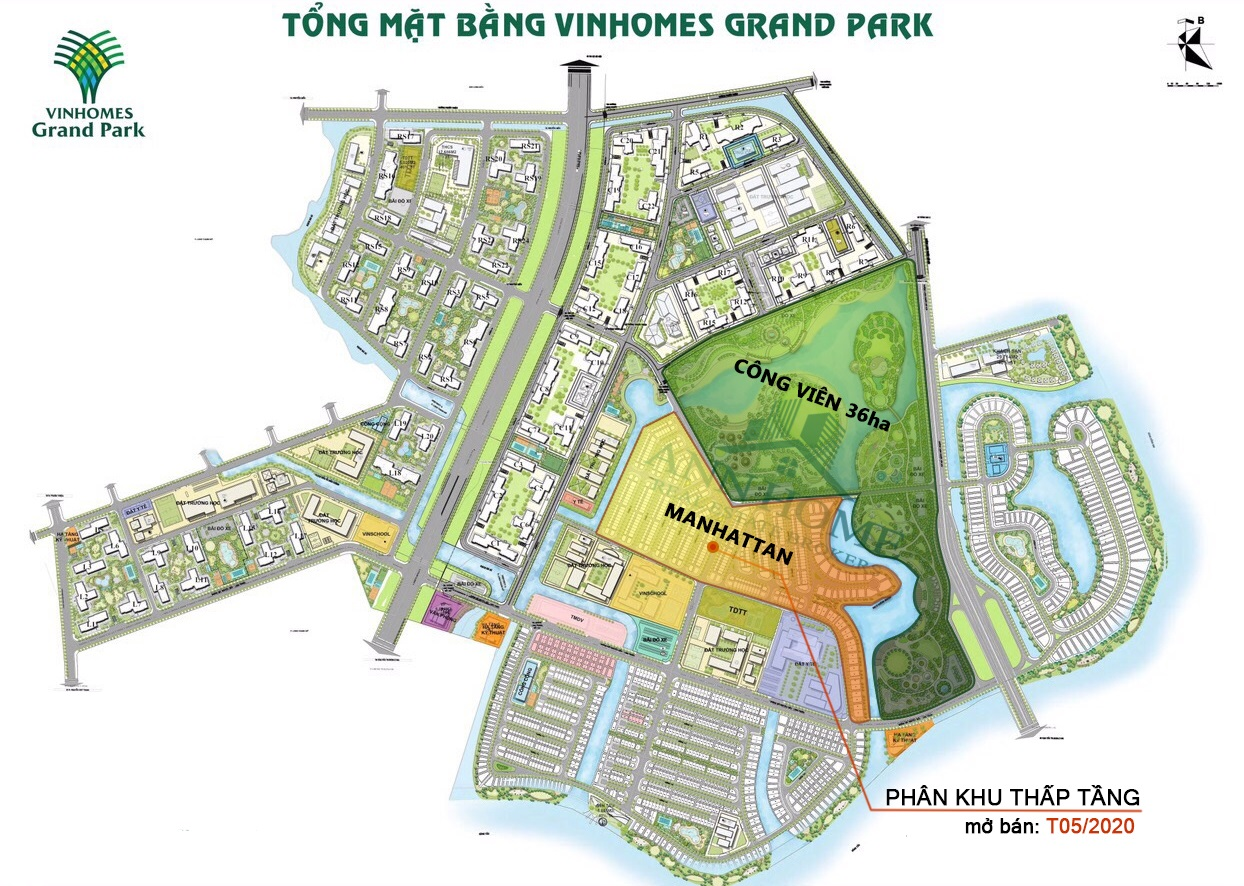 Tổng mặt bangwfVinhomes Grand Park quận 9