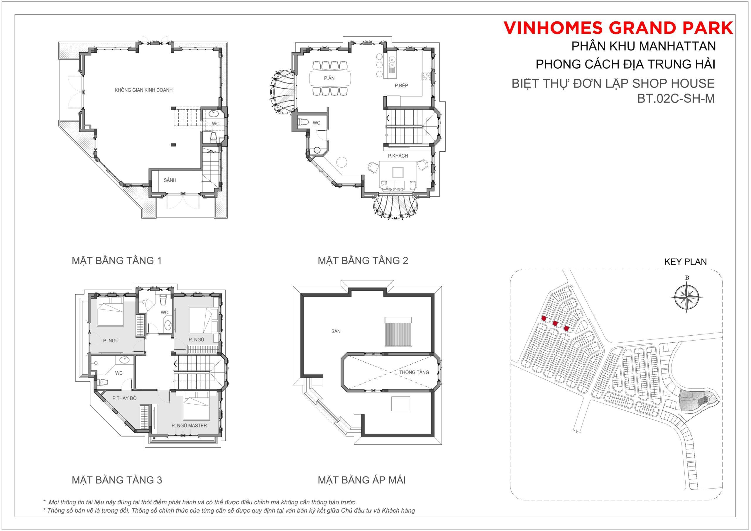 Mặt bằng thiết kế Biệt thự đơn lập The Manhattan Glory Vinhomes Grand Park, quận 9, TP HCM
