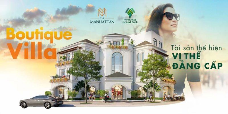 Biệt thự Boutique Villa The Manhattan Glory Vinhomes Grand Park, quận 9, TP HCM