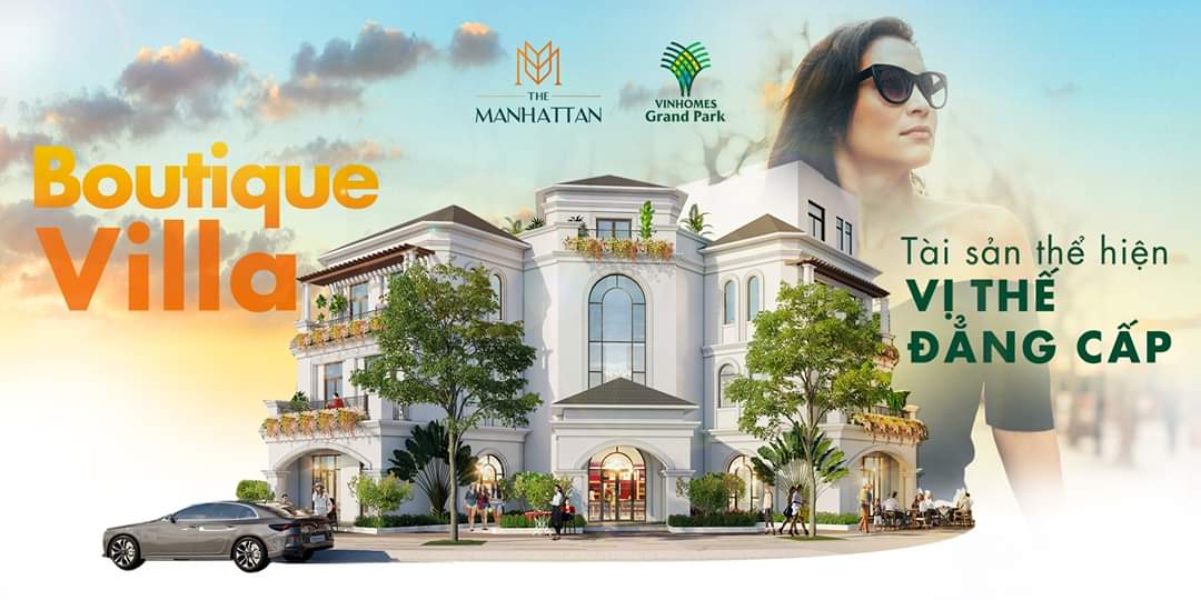 Biệt thự Boutique Villa The Manhattan Glory Vinhomes Grand Park, quận 9, TP HCM
