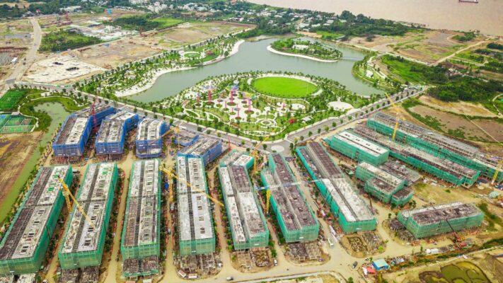 tiến độ xây dựng shophouse The manhattan Vinhomes Grand Park quận 9