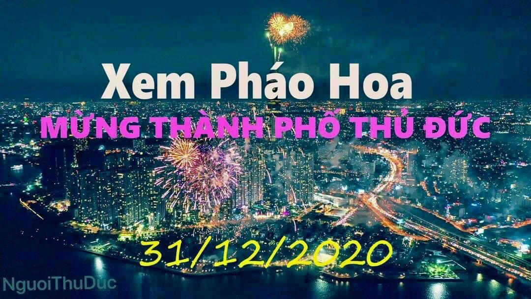 pHCM Bắn pháo hoa 4 điểm mừng Tết Dương lịch