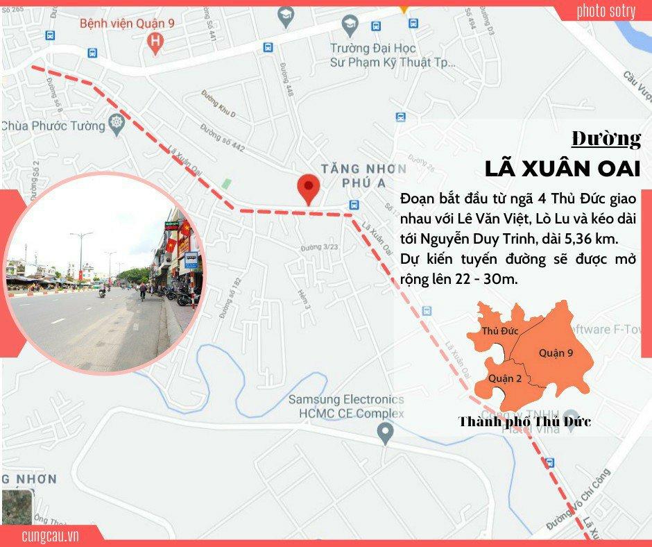 9 tuyến đường ở TP Thủ Đức được mở rộng đến 30 mét